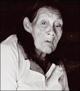 Velha Índia Aíu (Xokleng), abril de 1997.